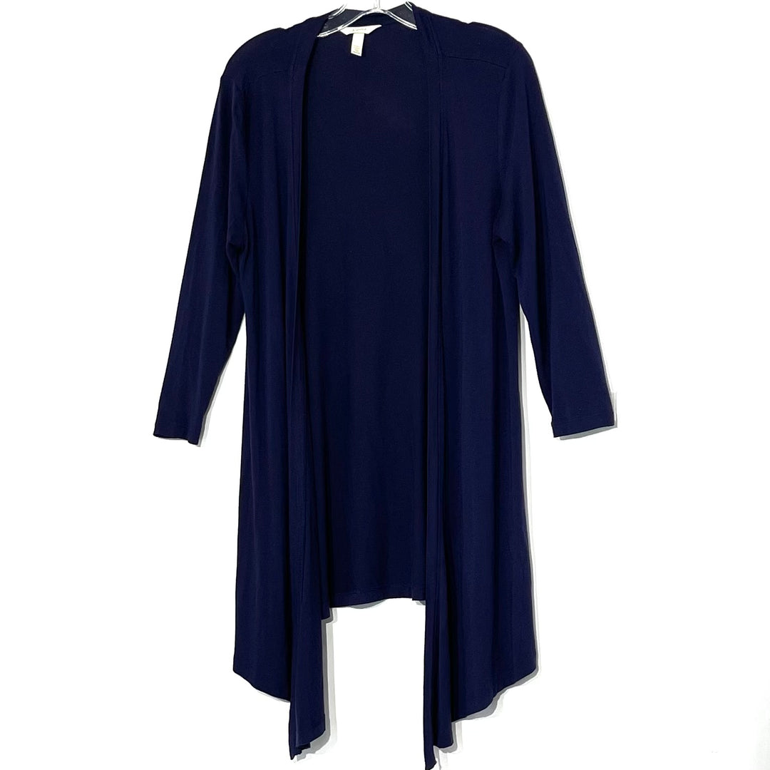 Primary Photo - BRAND: SOMA <BR>STYLE: TOP SHORT SLEEVE COVER<BR>COLOR: NAVY <BR>SIZE: M <BR>SKU: 262-26211-141862<BR>5% SPANDEX