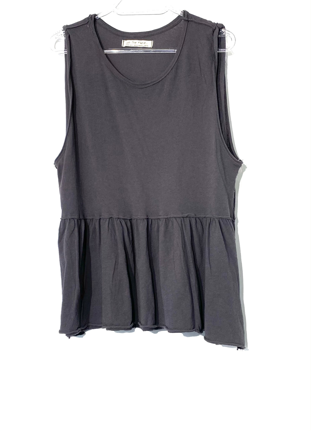 Primary Photo - BRAND: WE THE FREE <BR>STYLE: TOP SLEEVELESS <BR>COLOR: GREY <BR>SIZE: L <BR>SKU: 262-26275-68184