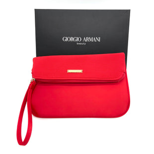 "Primary Photo - BRAND: GIORGIO ARMANI STYLE: MAKEUP BAG COLOR: RED SKU: 262-26241-469729""LX6""HX.5""W"