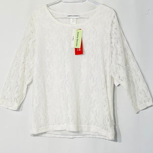 Primary Photo - BRAND: CATHY DANIELS STYLE: TOP 3/4 LONG SLEEVE COLOR: WHITE SIZE: XL SKU: 262-26275-625581% SPANDEX