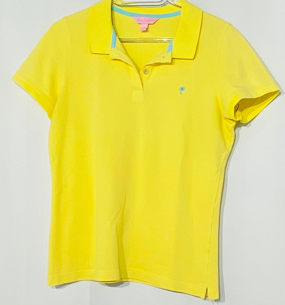 Primary Photo - BRAND: LILLY PULITZER <BR>STYLE: TOP SHORT SLEEVE <BR>COLOR: YELLOW <BR>SIZE: L <BR>SKU: 262-26241-42679<BR>DESIGNER FINAL
