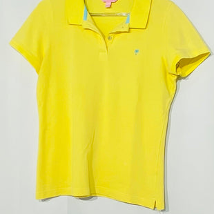Primary Photo - BRAND: LILLY PULITZER STYLE: TOP SHORT SLEEVE COLOR: YELLOW SIZE: L SKU: 262-26241-42679DESIGNER FINAL