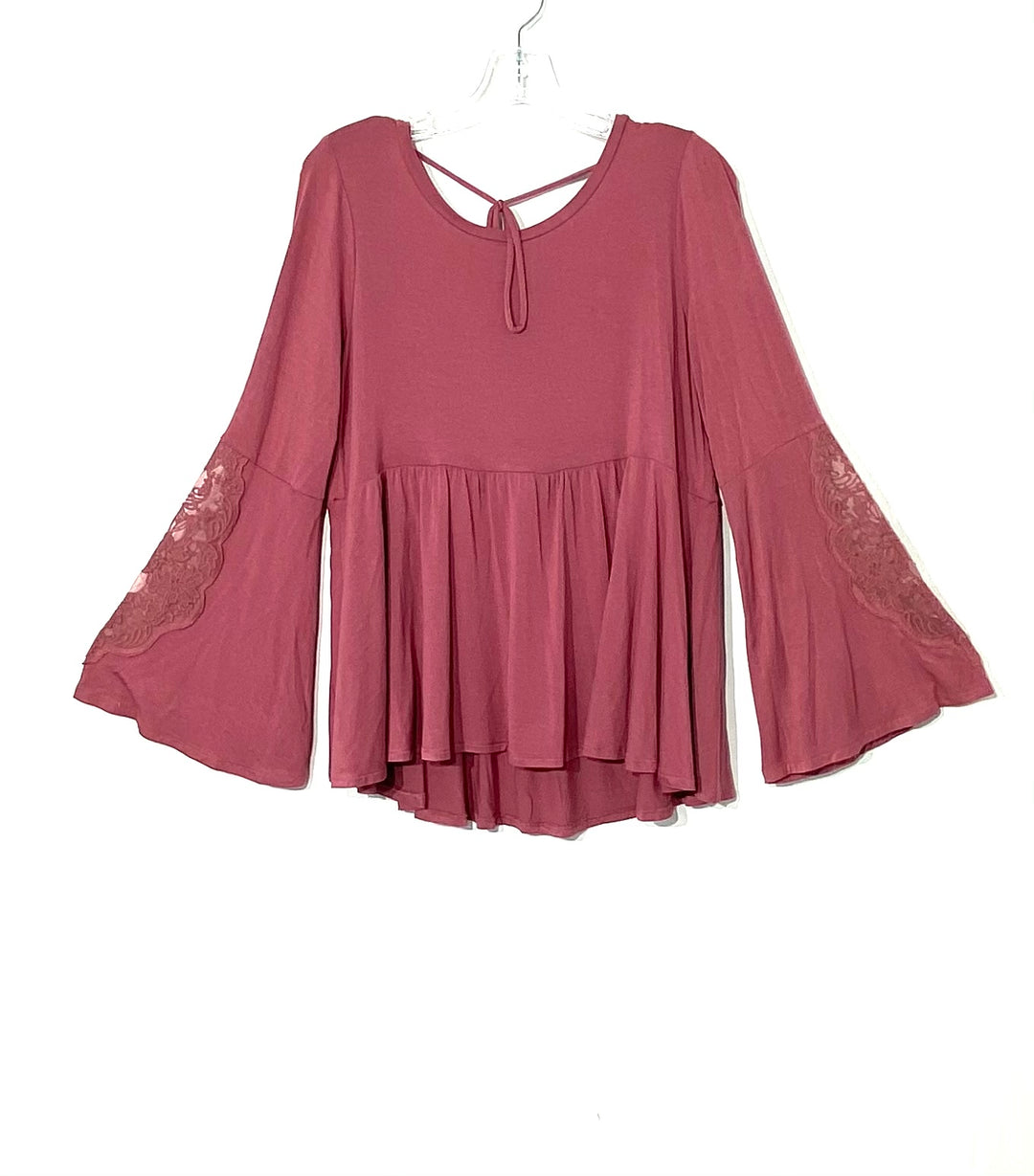 Primary Photo - BRAND: AMERICAN EAGLE <BR>STYLE: TOP LONG SLEEVE <BR>COLOR: MAUVE<BR>SIZE: L <BR>SKU: 262-26275-71202