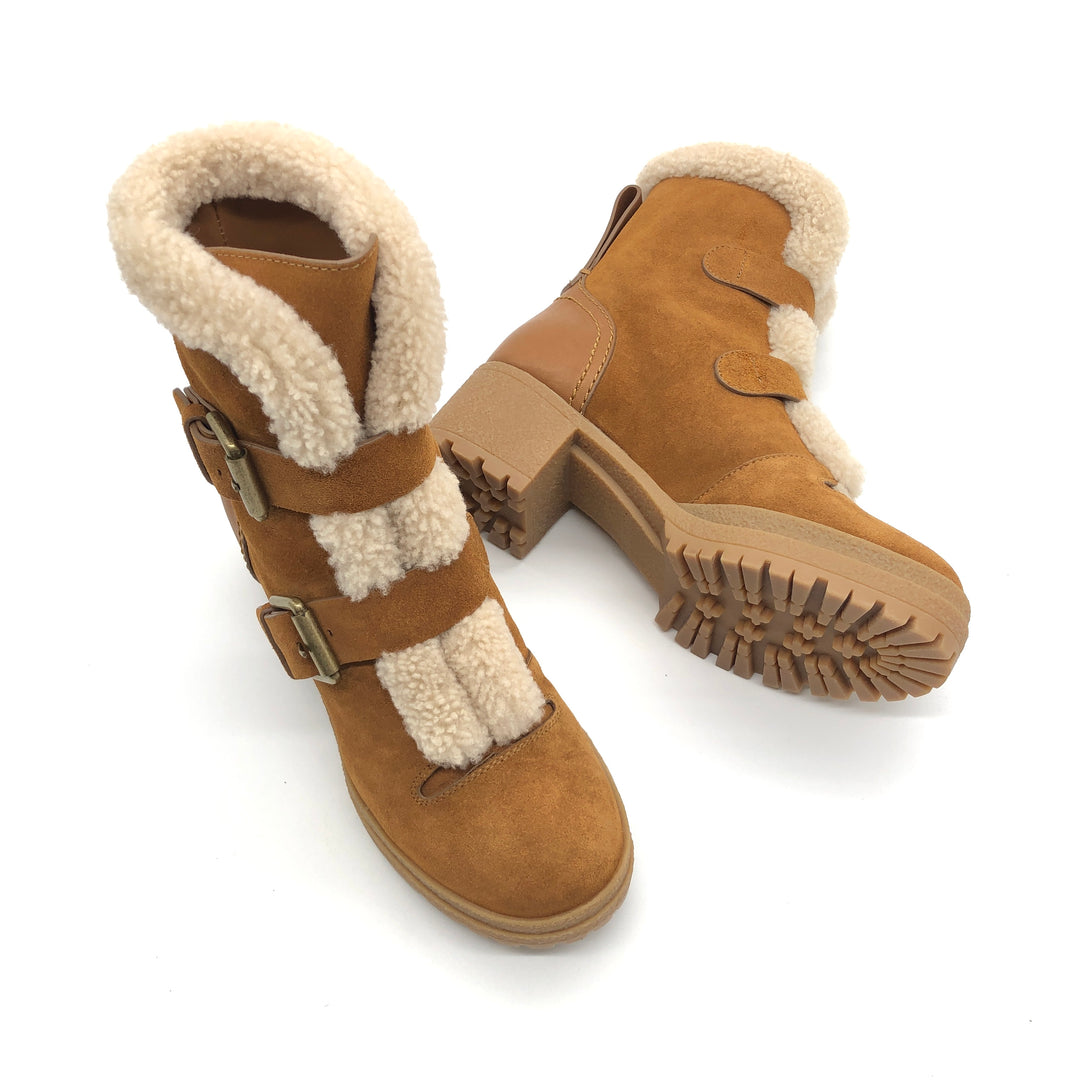 Photo #1 - BRAND: CHLOE <BR>STYLE: BOOTS ANKLE <BR>COLOR: CAMEL<BR>SIZE: 7 | 37<BR>SKU: 262-26275-74175<BR>IN GREAT SHAPE AND CONDITION