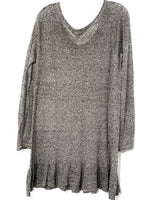 "Photo #1 - BRAND: FREE PEOPLE <BR>STYLE: SWEATER LIGHTWEIGHT <BR>COLOR: BLACK WHITE<BR>SIZE: M <BR>SKU: 262-26241-42699<BR>PIT TO HEM 24""<BR>100% LINEN"