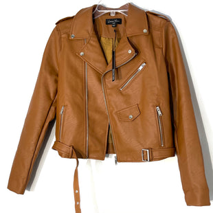 Primary Photo - BRAND: LOVE TREE STYLE: JACKET OUTDOOR COLOR: BROWN SIZE: L SKU: 262-26211-144367FAUX LEATHER