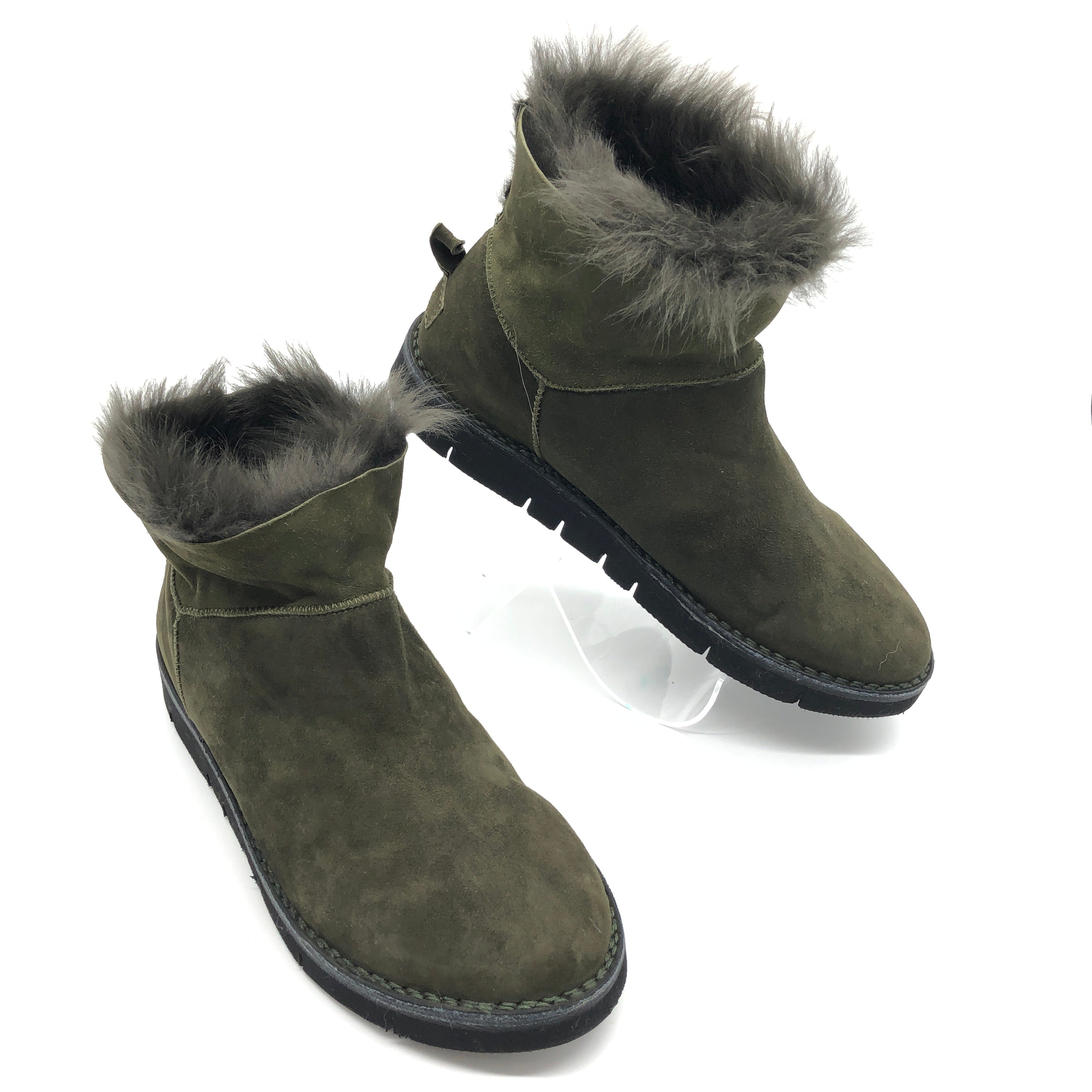 Primary Photo - BRAND:  BOEMOS <BR>STYLE: BOOTS ANKLE <BR>COLOR: OLIVE <BR>SIZE: 13 | 43<BR>SKU: 262-26241-44651<BR>AS IS