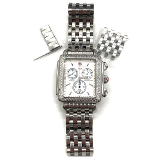 Photo #1 - BRAND: MICHELE STYLE: WATCH COLOR: DIAMOND SIZE: L SKU: 262-26211-144160LARGE SIZE, FACE APPROX. 32MM WIDE X 35M HEIGHT. FITS APPROX. SMALL TO MEDIUM BUT INCLUDES EXTRA LINKS AS SHOWN. SOME SLIGHT WEAR/SCRATCHES AS SHOWN.RECENTLY WAS REPAIRED BY THIRD-PARTY (NON-MICHELE) DIAMOND JEWELER: NEW BATTERY REPLACED, 6 DIAMONDS REPLACED, WATCH CLEANED.