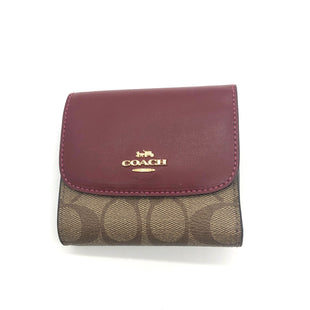 "Primary Photo - BRAND: COACH STYLE: WALLET COLOR: RED SIZE: SMALL SKU: 262-26211-1446214"" L X 4"" H"