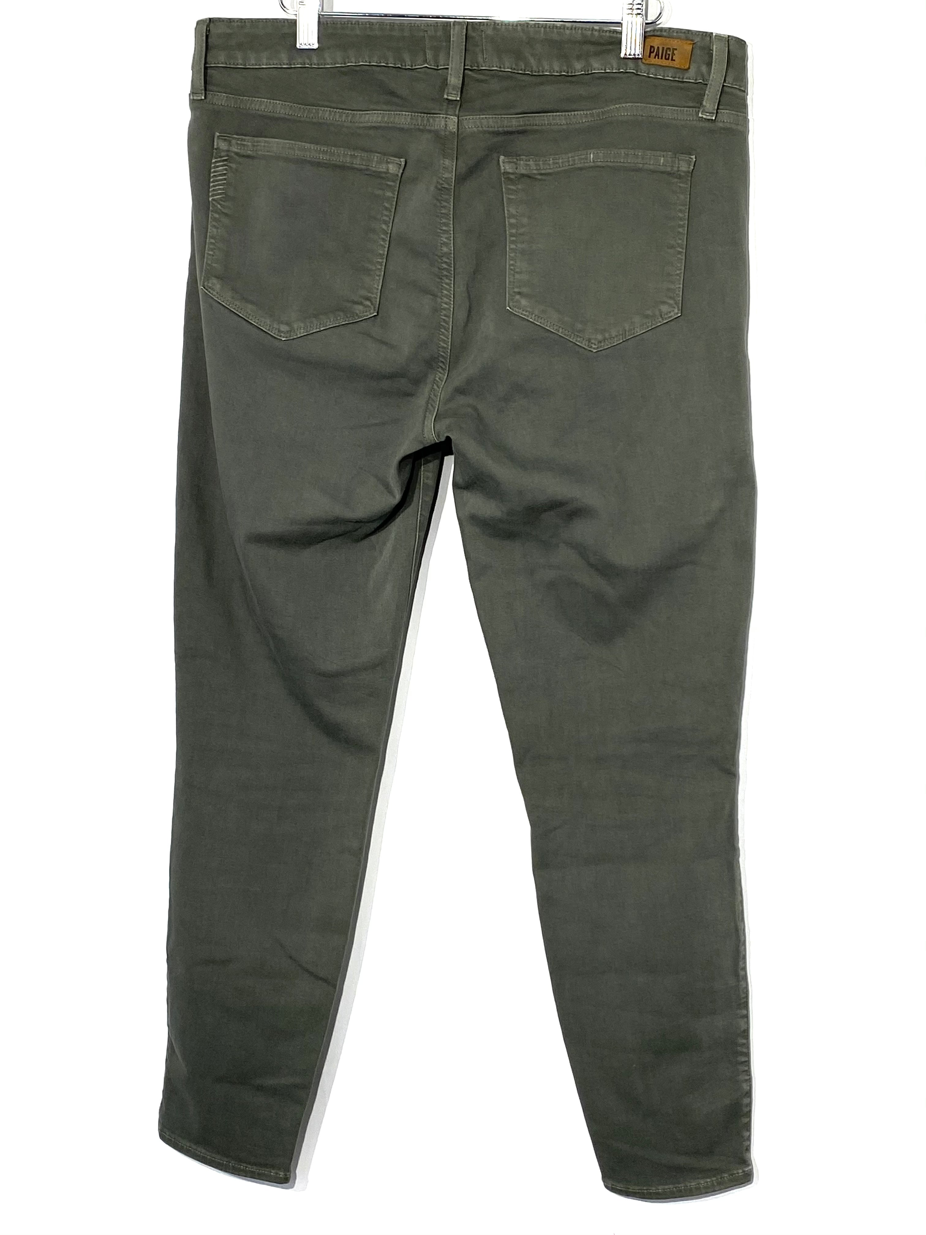 Photo #1 - BRAND: PAIGE <BR>STYLE: JEANS <BR>COLOR: OLIVE <BR>SIZE: 12 /32<BR>SKU: 262-26275-69397<BR>SLIGHTEST FADE EDGES OR DISTRESSED STYLE