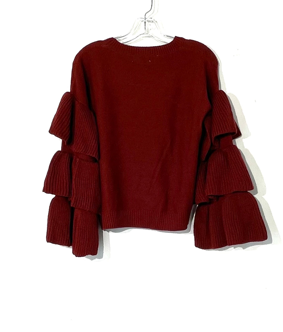 Photo #1 - BRAND: ELAN <BR>STYLE: SWEATER LIGHTWEIGHT <BR>COLOR: MAROON <BR>SIZE: S <BR>SKU: 262-26275-73501