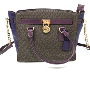 "Primary Photo - BRAND: MICHAEL KORS STYLE: HANDBAG DESIGNER COLOR: MULTI SIZE: MEDIUM SKU: 262-262101-1966. APPROX. 15""X 10""X5.5""HANDLE DROP APPROX. 7.5""AS IS SLIGHT SCRATCHES ON SIDE AND SOME SMALL SPOTS ON INSIDE BOTTOM DESIGNER BRAND FINAL SALE."