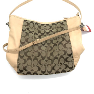 "Primary Photo - BRAND: COACH STYLE: HANDBAG DESIGNER COLOR: CREAM SIZE: MEDIUM SKU: 262-26211-127307SOME SLIGHT SPOTS. APPROX. 13""L X 10""H X 4.5""D"
