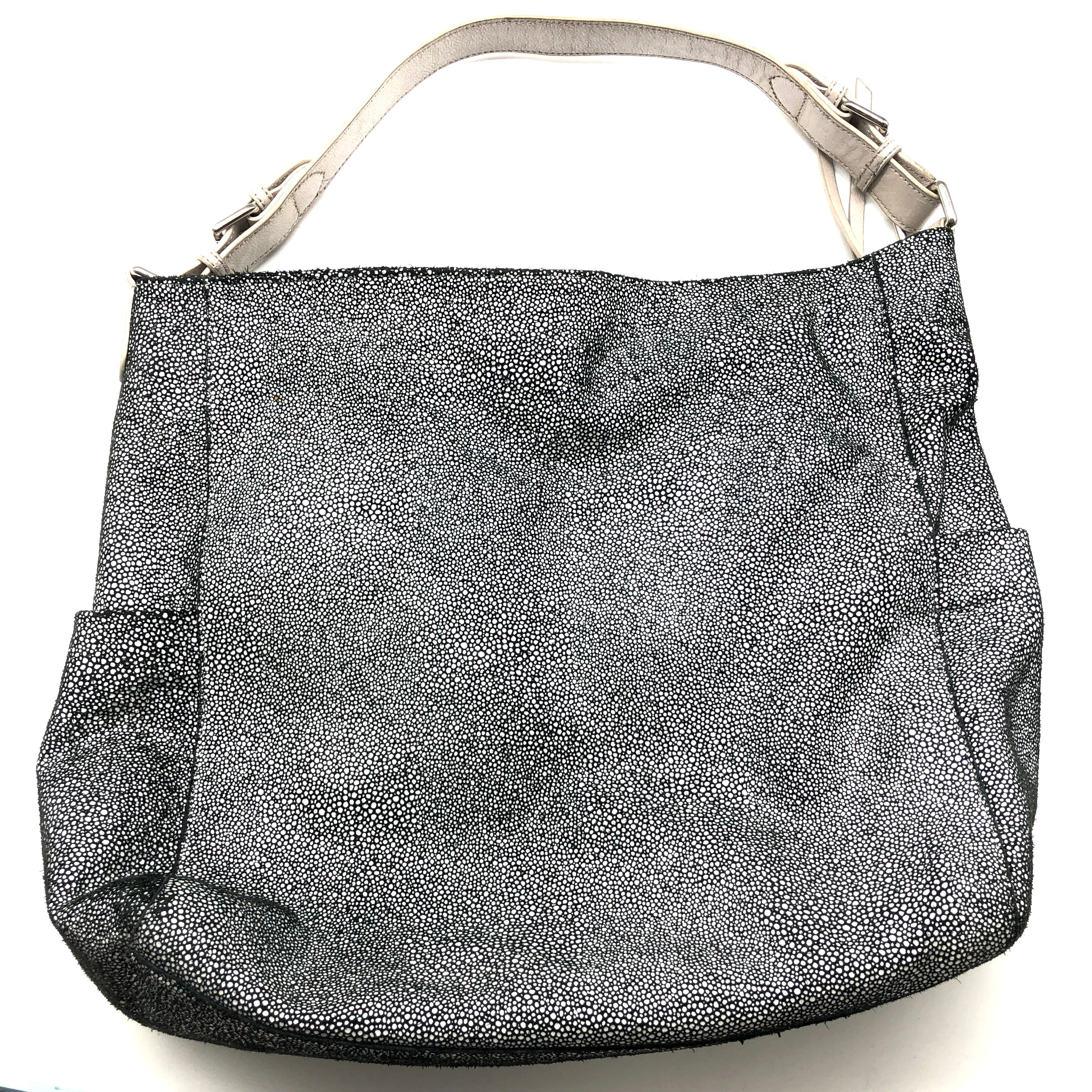 "Photo #1 - BRAND: SORIAL <BR>STYLE: HANDBAG <BR>COLOR: BLACK WHITE <BR>SIZE: MEDIUM <BR>SKU: 262-26275-75128<BR><BR>APPROX. 16""L X 13.25""H X 4""D. PRICE MAY REFLECT SOME SLIGHT WEAR"