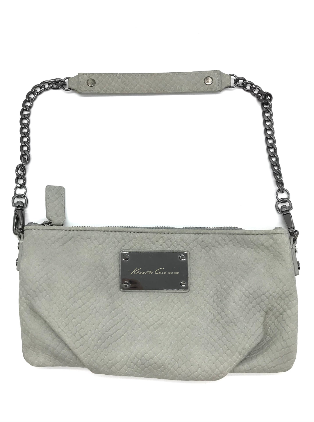 "Primary Photo - BRAND: KENNETH COLE <BR>STYLE: WRISTLET <BR>COLOR: GREY <BR>SKU: 262-26241-44459<BR><BR>APPROX. 9.25""L X 4.5""H"