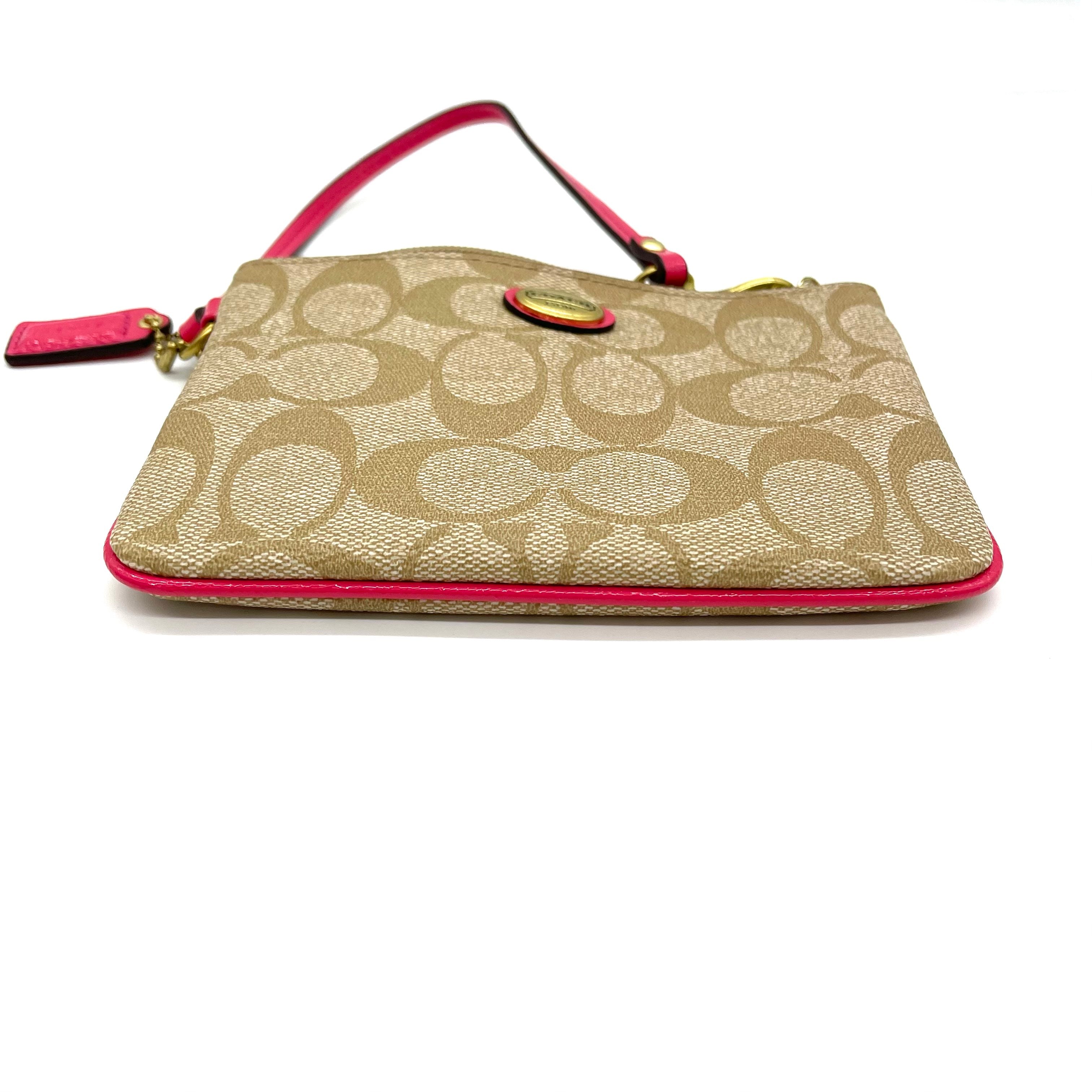 "Photo #3 - BRAND: COACH <BR>STYLE: COIN PURSE <BR>COLOR: PINKBROWN MONOGRAM <BR>SIZE: SMALL<BR>SKU: 262-26241-46841<BR>DESIGNER FINAL <BR>6""LX4""HX.5""D<BR>"