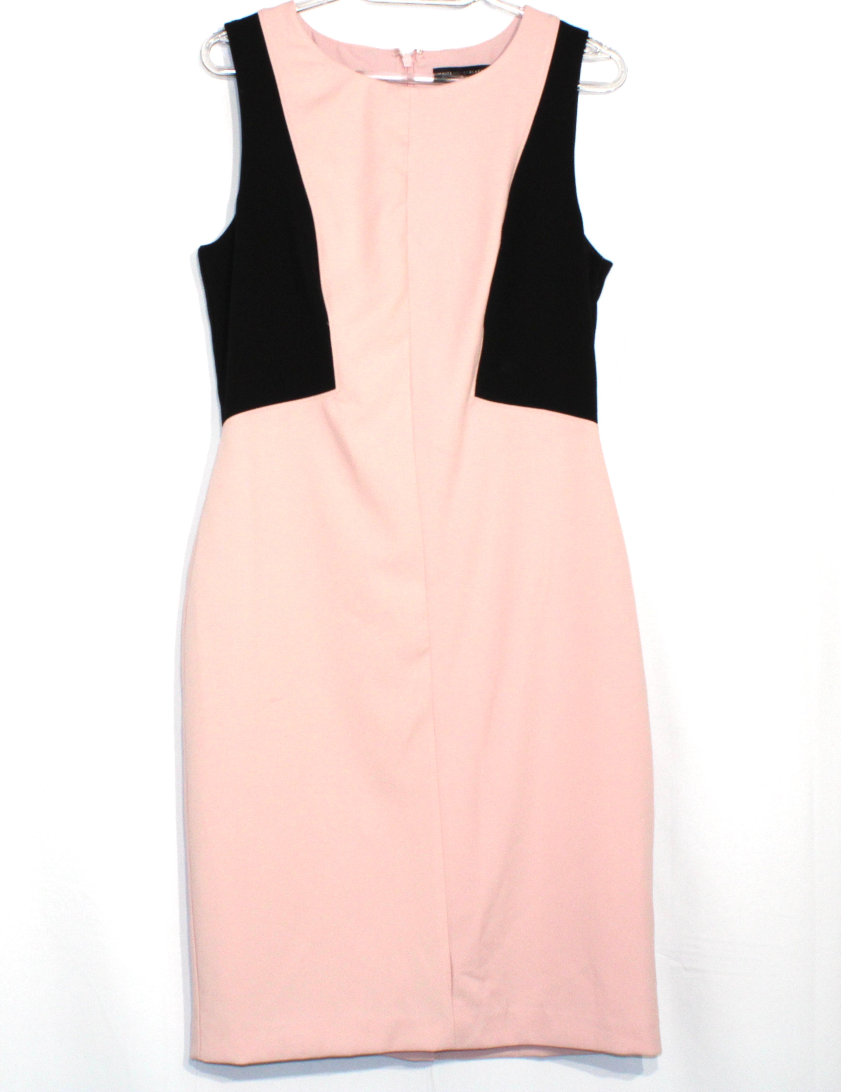 Primary Photo - BRAND: WHITE HOUSE BLACK MARKET <BR>STYLE: DRESS SHORT SLEEVELESS <BR>COLOR: PINKBLACK <BR>SIZE: M/8<BR>SKU: 262-26275-61030