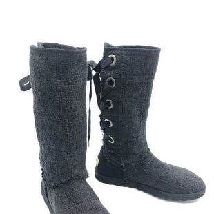 Primary Photo - BRAND: UGG STYLE: BOOTS KNEE COLOR: BLACK SIZE: 7 SKU: 262-262101-2044SMALL TEAR ON THE BACK OF LEFT BOOTS • AS IS •