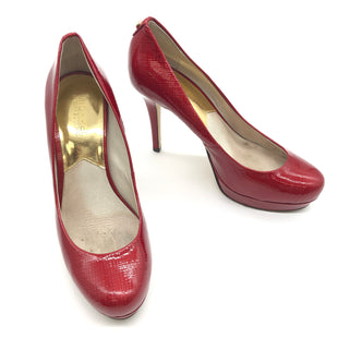 Primary Photo - BRAND: MICHAEL KORS STYLE: SHOES LOW HEEL COLOR: RED SIZE: 7 SKU: 262-26275-74188GENTLE WEAR - AS IS