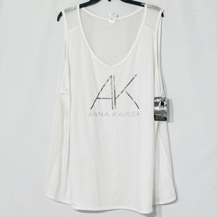 Primary Photo - BRAND: CHAMPION STYLE: ATHLETIC TANK TOP COLOR: WHITE BLACK SIZE: 4X SKU: 262-26275-77478