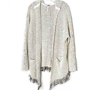 Primary Photo - BRAND: FREE PEOPLE STYLE: SWEATER CARDIGAN LIGHTWEIGHT COLOR: BLACK WHITE SIZE: S SKU: 262-26211-143433