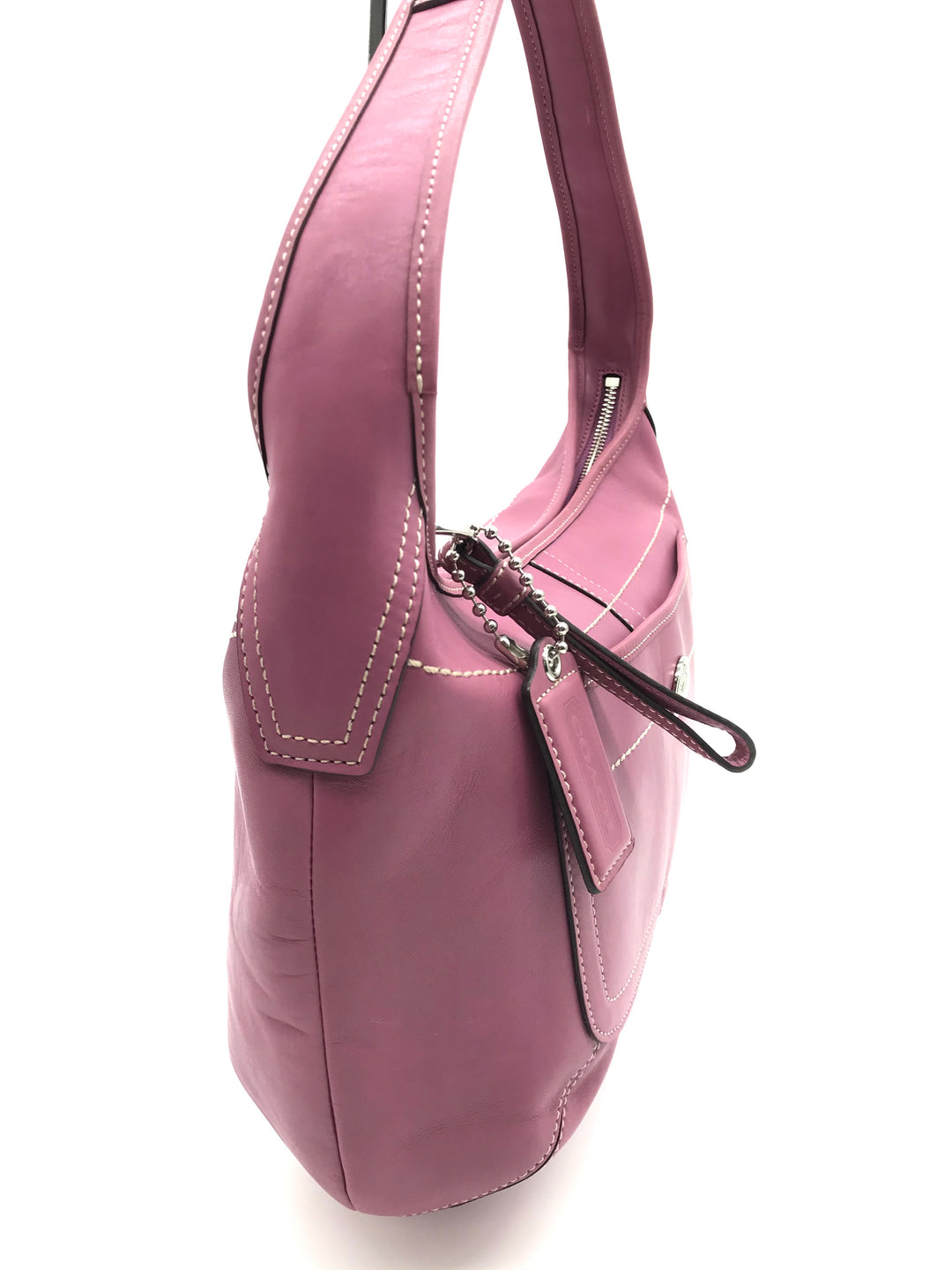 "Photo #1 - BRAND: COACH <BR>STYLE: HANDBAG DESIGNER <BR>COLOR: PINK <BR>SIZE: MEDIUM 9""H X 14""L X 4""W <BR>HANDLE DROP: 6""<BR>SKU: 262-26275-70320<BR>SOME SCRATCHES ON THE EXTERIOR - AS IS"