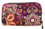 "Primary Photo - BRAND: VERA BRADLEY <BR>STYLE: WALLET <BR>COLOR: FLORAL <BR>SIZE: LARGE <BR>SKU: 262-26275-64715<BR><BR>APPROX. 8"" X 4.75""."