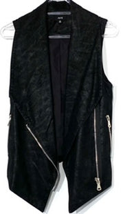 Primary Photo - BRAND:    FATESTYLE: VEST COLOR: BLACK SIZE: S OTHER INFO: FATE - SKU: 262-26241-43020LEATHER LOOK