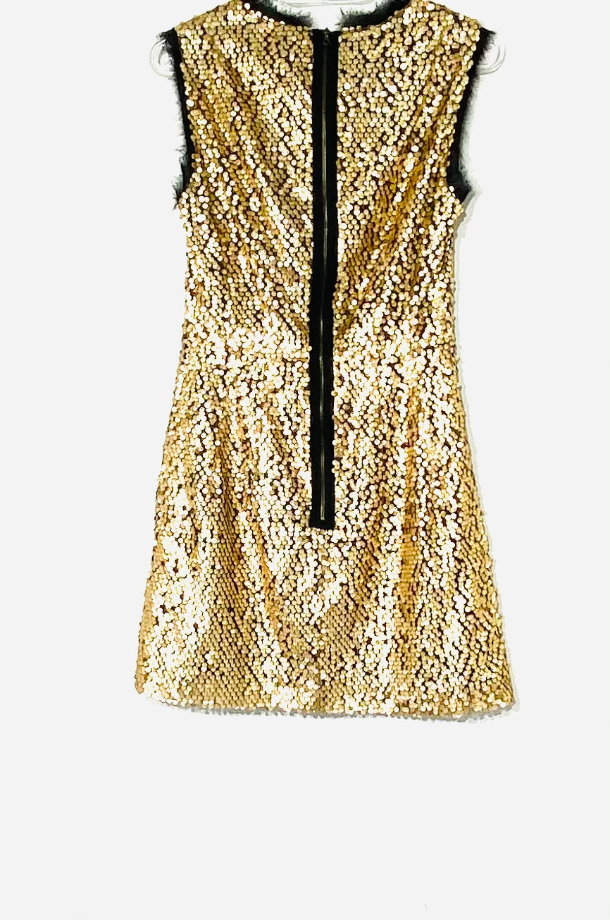 Photo #1 - BRAND: NANETTE LEPORE <BR>STYLE: DRESS SHORT SLEEVELESS <BR>COLOR: GOLD SEQUIN <BR>SIZE: XS /2<BR>SKU: 262-26275-69802
