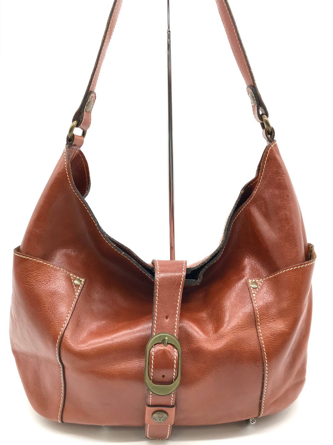 Primary Photo - BRAND: PATRICIA NASH <BR>STYLE: HANDBAG <BR>COLOR: BROWN <BR>SIZE: MEDIUM <BR>SKU: 262-26275-64345<BR>GENTLE WEAR SHOWS AS BOTTOM CORNERS - AS IS