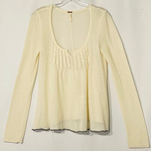 Primary Photo - BRAND: FREE PEOPLE STYLE: SWEATER CARDIGAN LIGHTWEIGHT COLOR: CREAM SIZE: LSKU: 262-26275-75046NEARLY 50% WOOL AND ANGORA