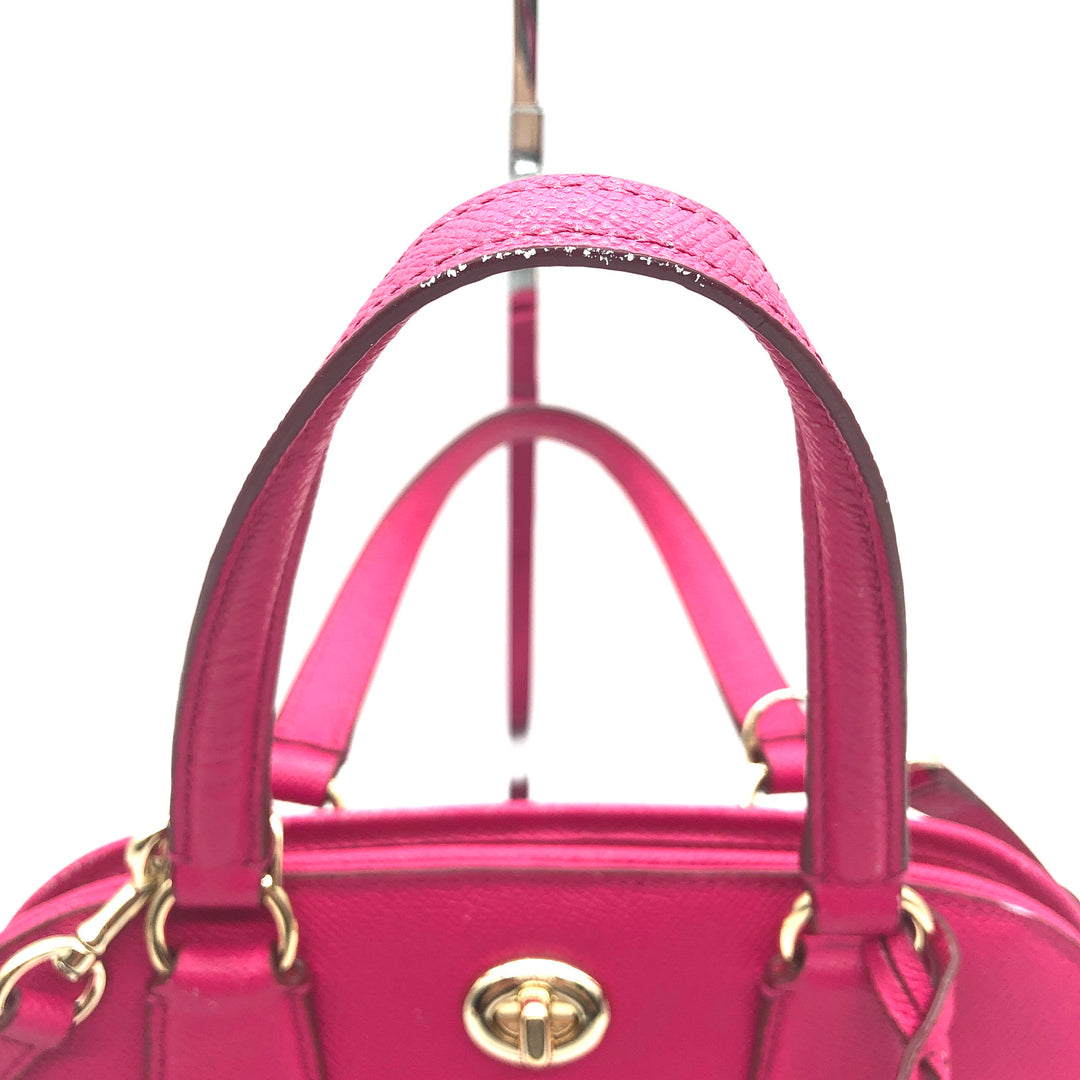 "Handbag Designer By Coach Size: Small - BRAND: COACH<BR>STYLE: HANDBAG DESIGNER <BR>COLOR: HOT PINK <BR>SIZE: SMALL <BR>SKU: 262-26275-74425<BR>AS IS WEAR <BR>DESIGNER BRAND FINAL SALE <BR>APPROX 10""X8""X4"""