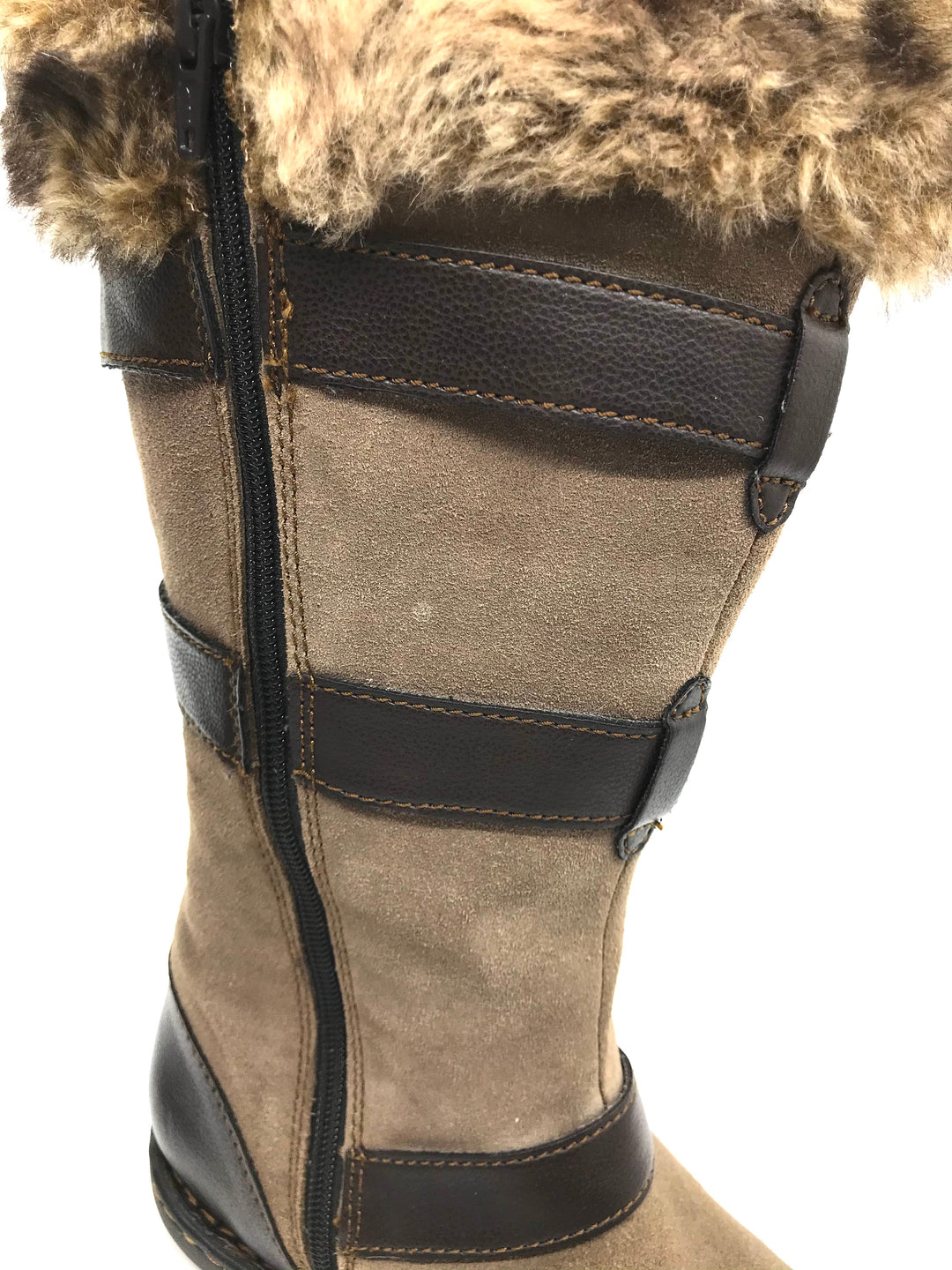 Boots Ankle By Boc  Size: 8 - BRAND: BOC <BR>STYLE: BOOTS ANKLE <BR>COLOR: BROWN <BR>SIZE: 8 <BR>SKU: 262-26275-73082<BR><BR>AS IS WEAR TO FABRIC, SMALL SPOTS