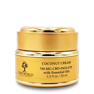 Coconut Cream 750mg CBD in 1oz Gold Container