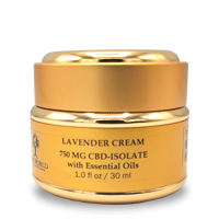 Load image into Gallery viewer, Lavender Cream 750mg CBD in 1oz Gold Container