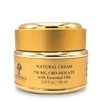 Natural Cream 750mg CBD in 1oz Gold Container