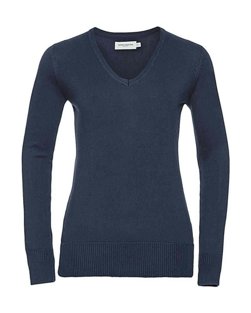 Ladies V Pullover, French Navy - Kant Oberschule