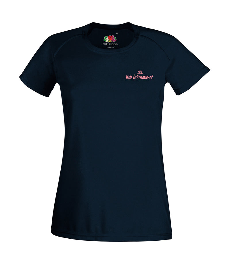 Damen Sport T-Shirt, Deep Navy - Kita International