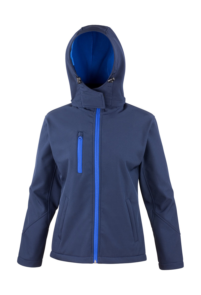 Ladies Softshell Jacke, Navy/Royal - Berlin International School