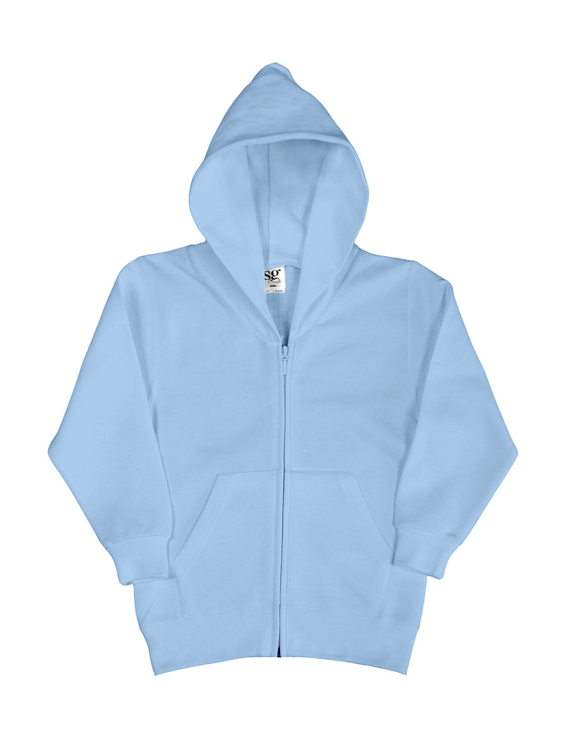 Kis Hooded Zip Sweat SG, Sky - Internationale Schule Berlin
