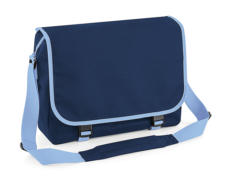 Messenger Bag, French Navy/Sky - Internationale Schule Berlin