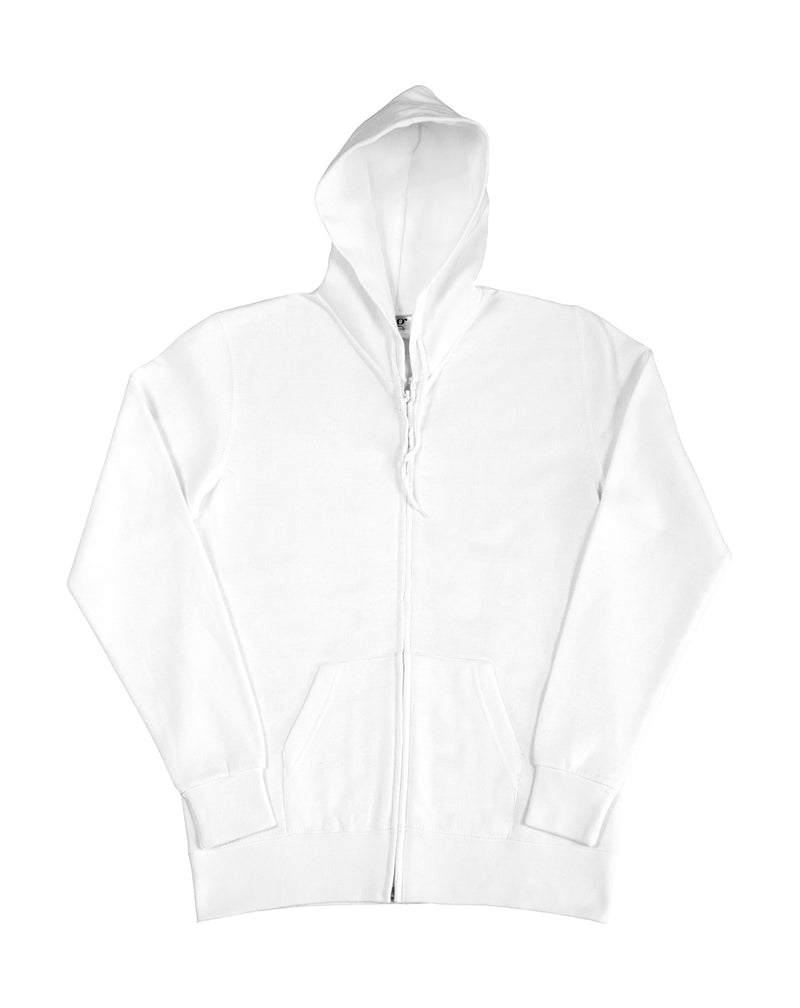 Ladies Hooded Zip Sweat SG, White - Kant Kindergarten