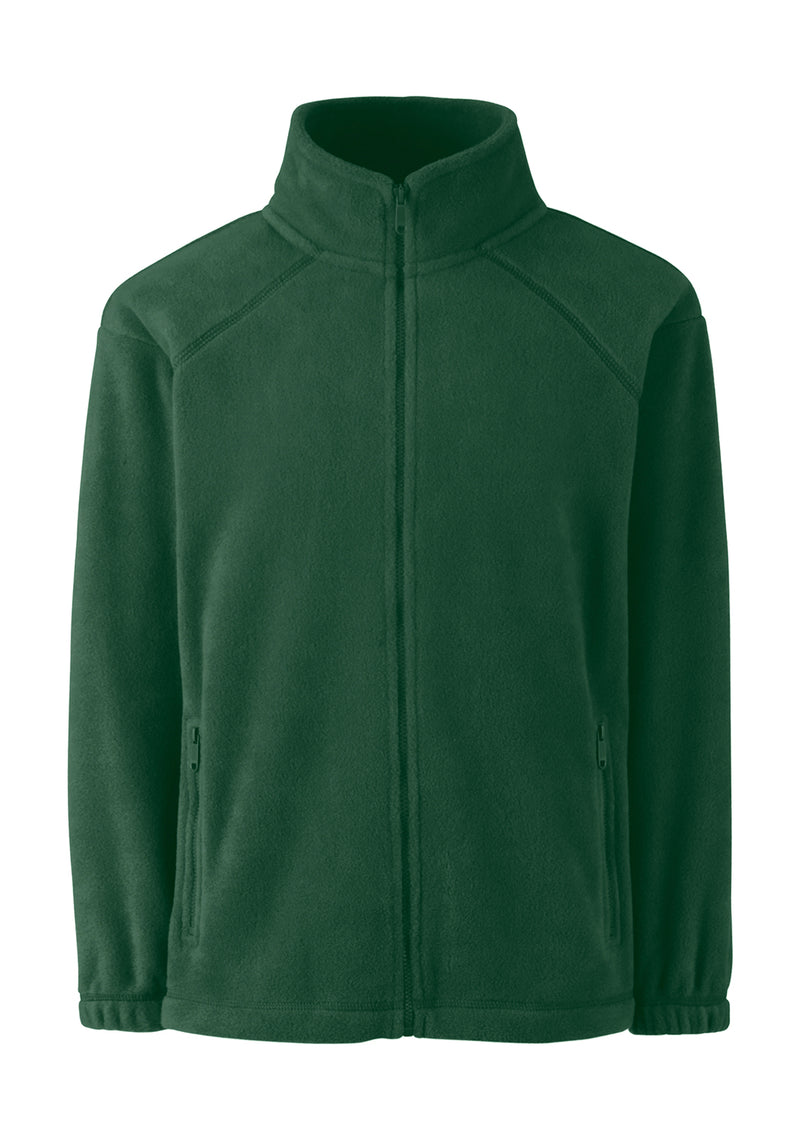 Kids Fleece Jacke, Bottle Green - Kant Grundschule