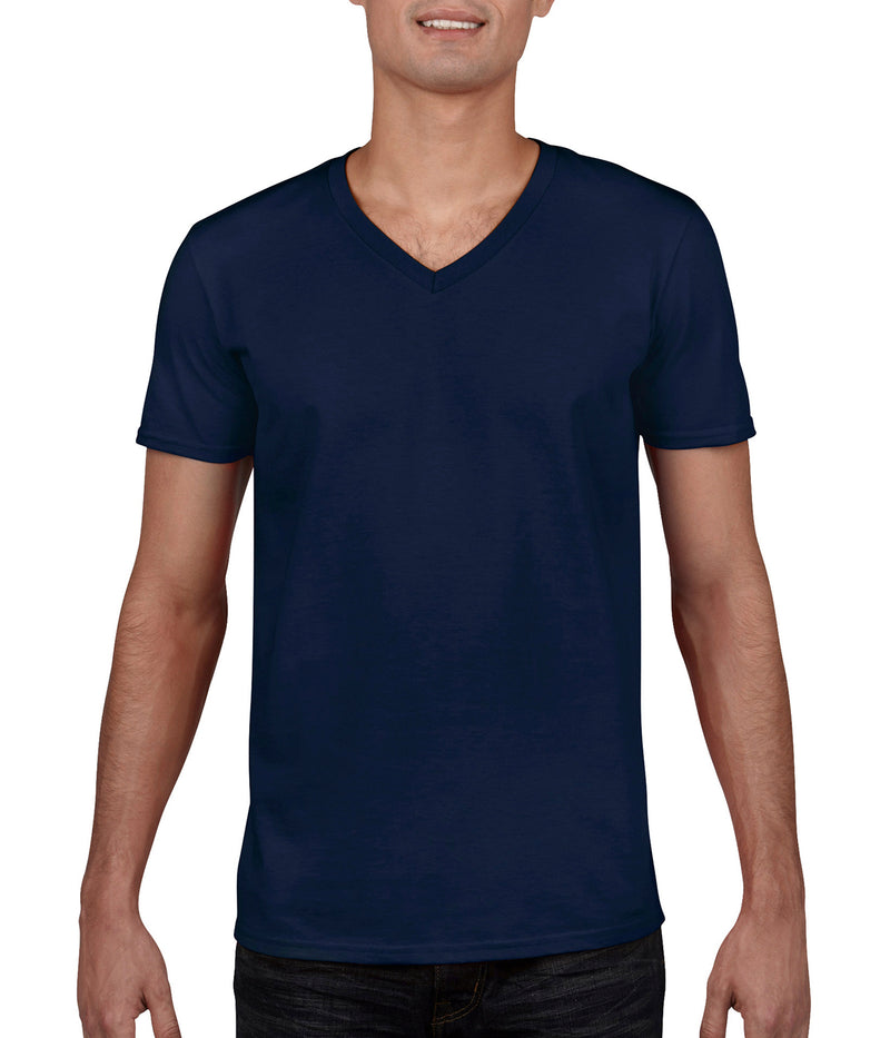 Herren T-Shirt V-Neck, Navy - Berlin International School