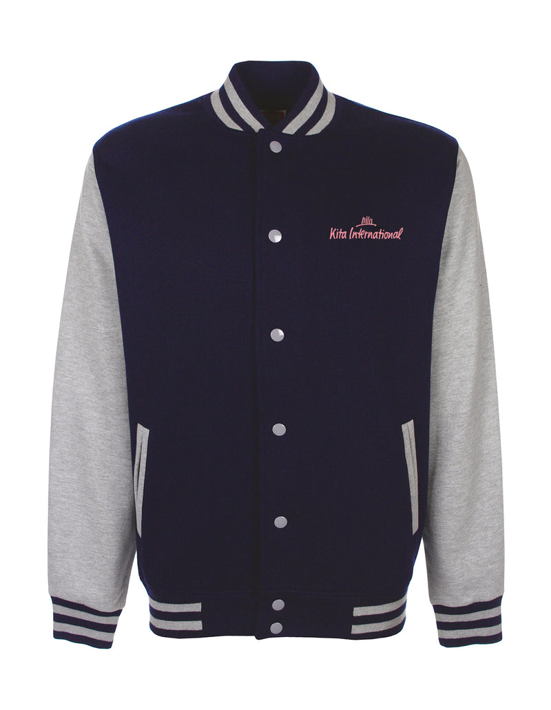 Collegejacket Adult - navy/grey
