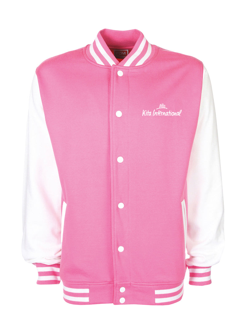 Collegejacket Adult - bubblegum/white