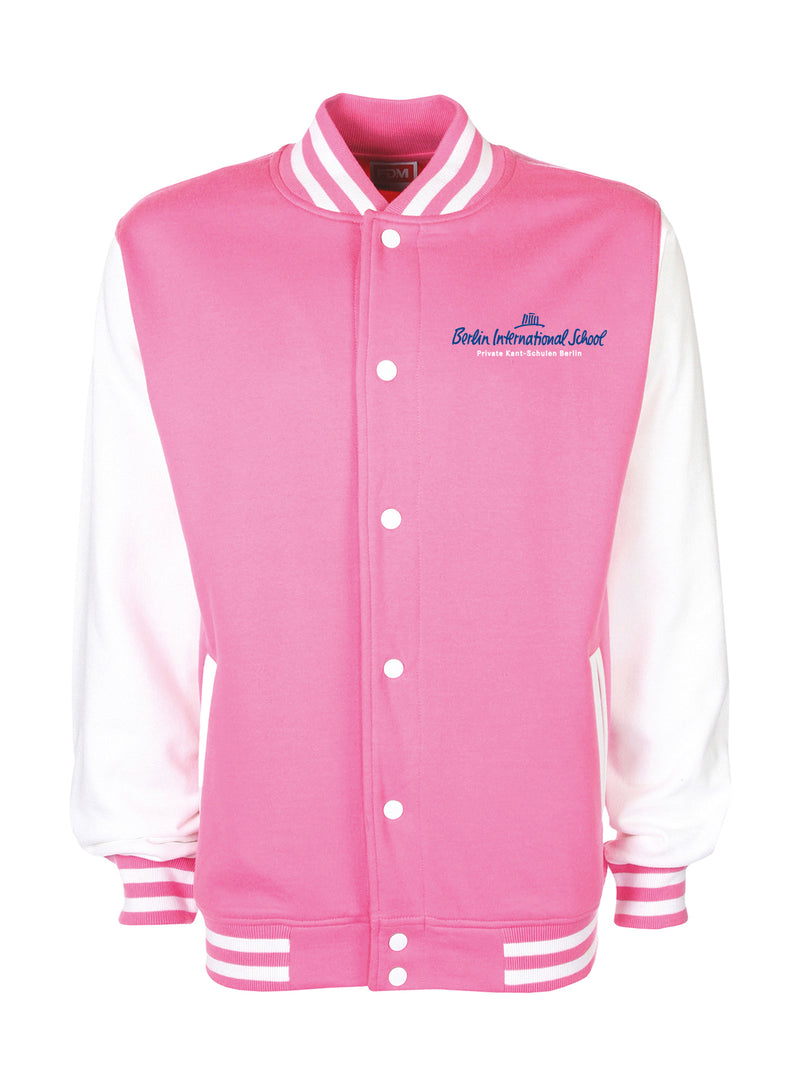 Collegejacke Adults - bubblegum/white
