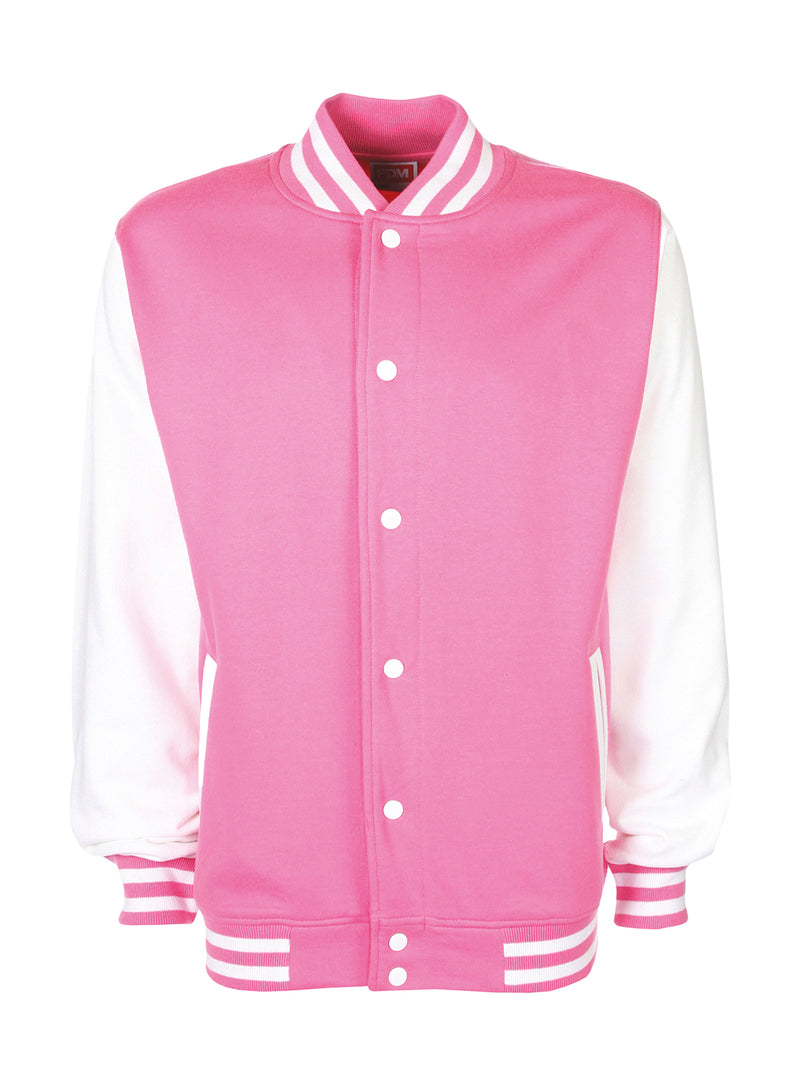 College Jacket, Bubblegum/White - Kant Kindergarten