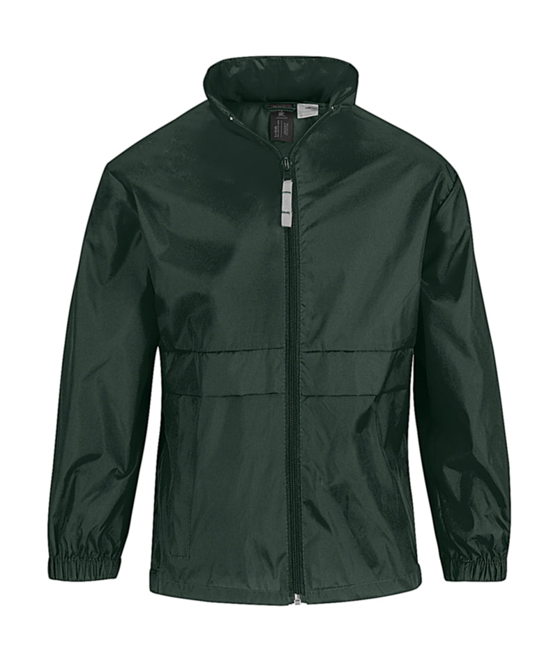Kids Windbreaker, Bottle Green - Kant Grundschule