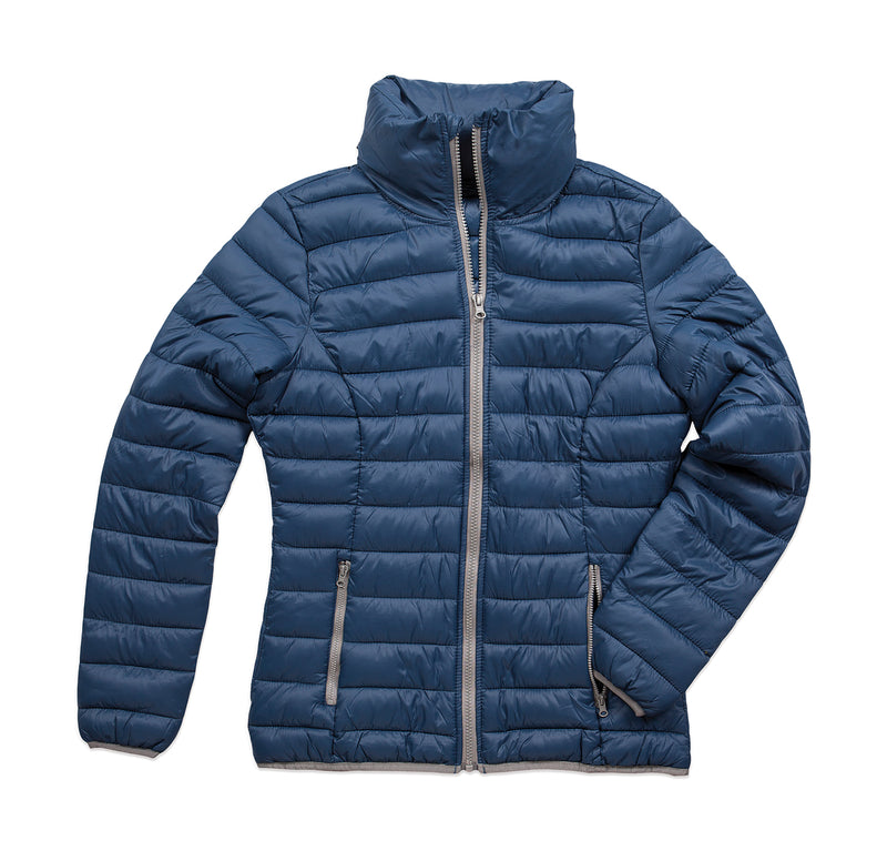 Ladies Active Padded Jacket, Dark Blue - Berlin International School